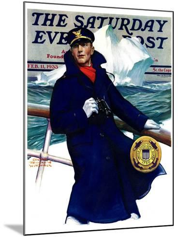 """""""Coast Guard,"""" Saturday Evening Post Cover, February 11, 1933-Edgar Franklin Wittmack-Mounted Giclee Print"""