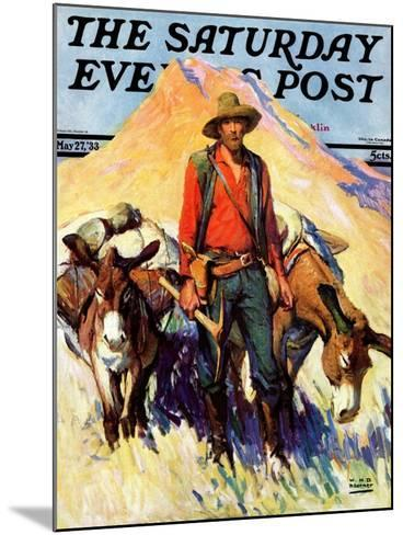 """""""Miner and Donkeys,"""" Saturday Evening Post Cover, May 27, 1933-William Henry Dethlef Koerner-Mounted Giclee Print"""