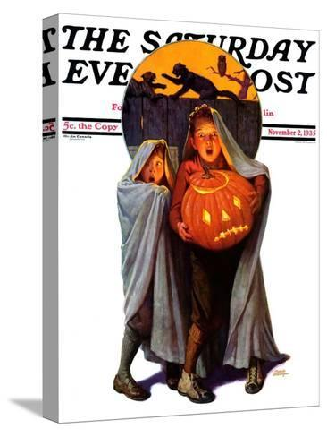 """""""Halloween Scare,"""" Saturday Evening Post Cover, November 2, 1935-Frederic Stanley-Stretched Canvas Print"""