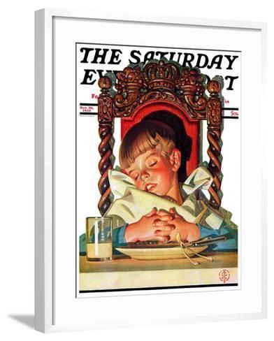 """After Turkey Nap,"" Saturday Evening Post Cover, November 26, 1938-Joseph Christian Leyendecker-Framed Art Print"