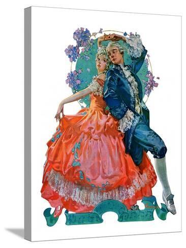 """Dancing Couple,""December 1, 1928-Elbert Mcgran Jackson-Stretched Canvas Print"