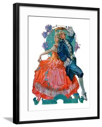 """Dancing Couple,""December 1, 1928-Elbert Mcgran Jackson-Framed Art Print"