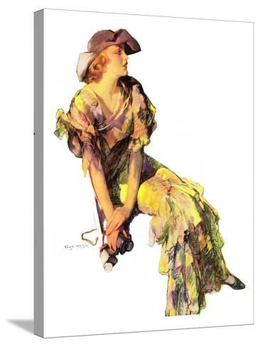 """""""Summer Frock,""""August 3, 1935-Guy Hoff-Stretched Canvas Print"""