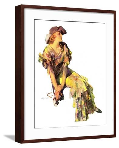 """Summer Frock,""August 3, 1935-Guy Hoff-Framed Art Print"