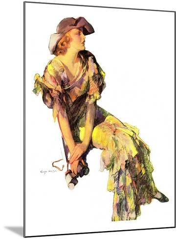 """""""Summer Frock,""""August 3, 1935-Guy Hoff-Mounted Giclee Print"""