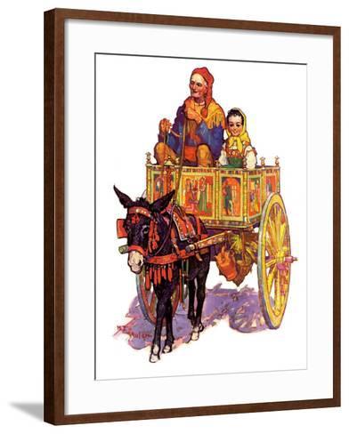 """Gypsy Wagon,""May 2, 1936-Henry Soulen-Framed Art Print"