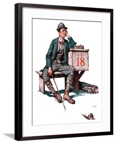"""Eighteenth Hole,""August 8, 1925-Lawrence Toney-Framed Art Print"
