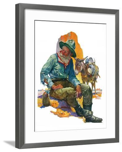 """""""Old Miner,""""April 6, 1929-Edgar Franklin Wittmack-Framed Art Print"""
