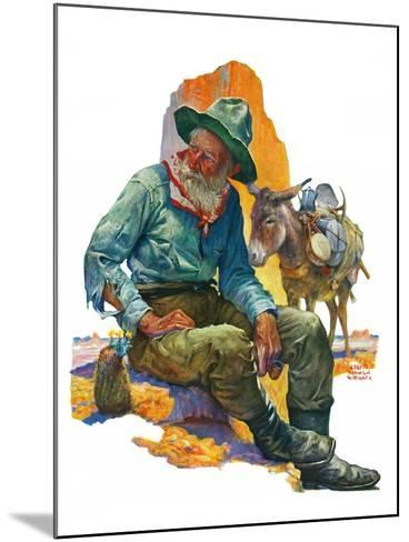 """Old Miner,""April 6, 1929-Edgar Franklin Wittmack-Mounted Giclee Print"