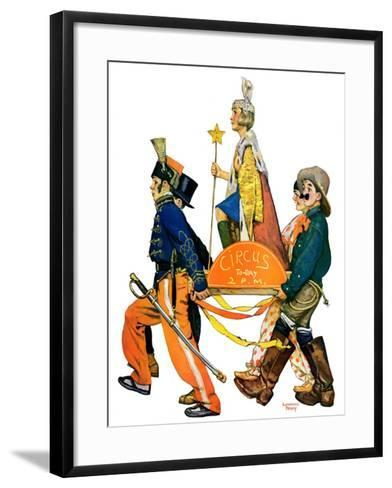 """Children's Circus Parade,""May 18, 1929-Lawrence Toney-Framed Art Print"