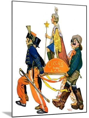 """Children's Circus Parade,""May 18, 1929-Lawrence Toney-Mounted Giclee Print"