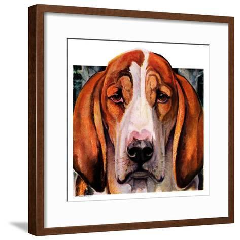 """You Ain't Nothing But a Hounddog,""January 30, 1937-Paul Bransom-Framed Art Print"