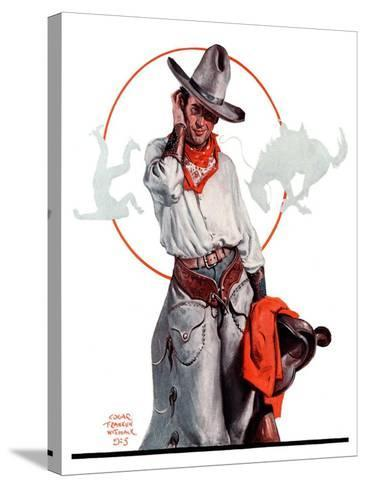 """Bronco Toss,""October 10, 1925-Edgar Franklin Wittmack-Stretched Canvas Print"