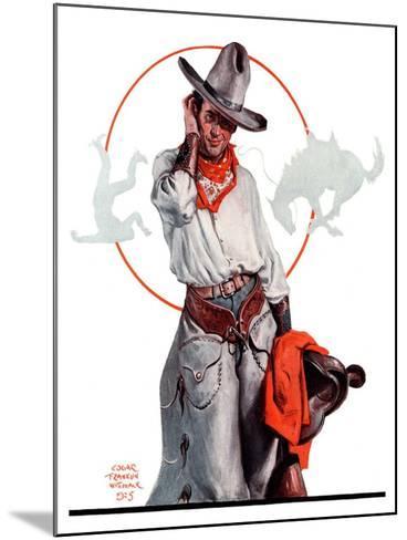 """Bronco Toss,""October 10, 1925-Edgar Franklin Wittmack-Mounted Giclee Print"