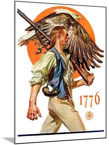 """Minute Man,""June 29, 1929-Joseph Christian Leyendecker-Mounted Giclee Print"