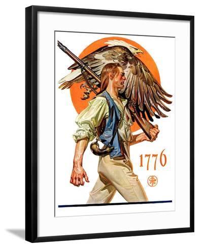 """""""Minute Man,""""June 29, 1929-Joseph Christian Leyendecker-Framed Art Print"""