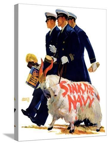 """""""Sink the Navy,""""November 30, 1935-Albert W^ Hampson-Stretched Canvas Print"""
