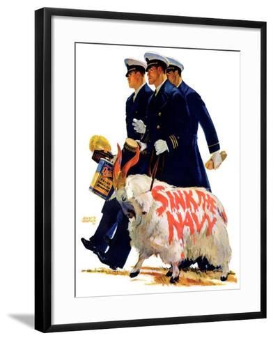 """""""Sink the Navy,""""November 30, 1935-Albert W^ Hampson-Framed Art Print"""