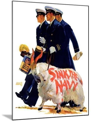 """Sink the Navy,""November 30, 1935-Albert W^ Hampson-Mounted Giclee Print"