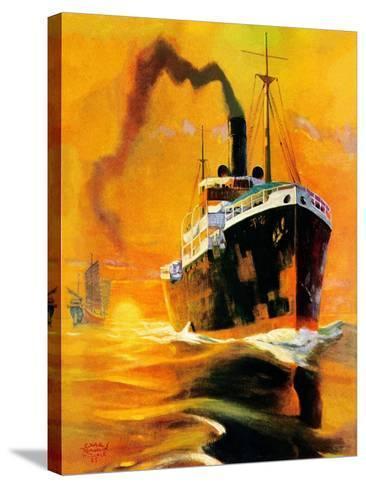 """Freighter,""December 14, 1935-Edgar Franklin Wittmack-Stretched Canvas Print"