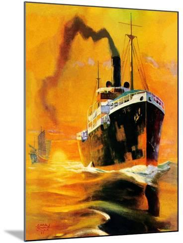 """Freighter,""December 14, 1935-Edgar Franklin Wittmack-Mounted Giclee Print"