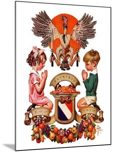 """Thanksgiving Crest,""November 26, 1932-Joseph Christian Leyendecker-Mounted Giclee Print"