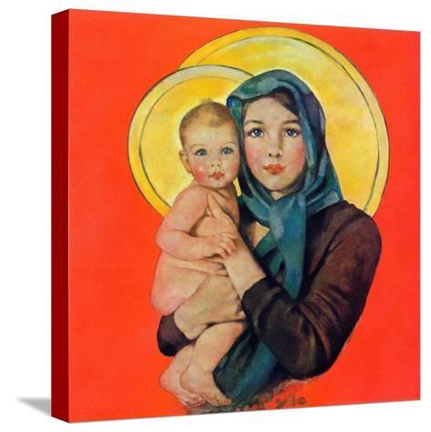 """Madonna and Child,""December 17, 1932-Ellen Pyle-Stretched Canvas Print"