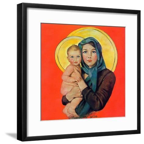 """""""Madonna and Child,""""December 17, 1932-Ellen Pyle-Framed Art Print"""