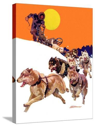 """Eskimo and Dog Sled,""February 29, 1936-Maurice Bower-Stretched Canvas Print"