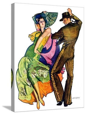 """""""The Flamenco,""""February 1, 1930-McClelland Barclay-Stretched Canvas Print"""