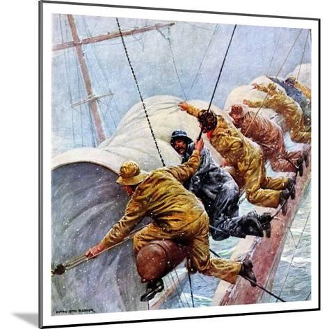 """Trim the Sails!,""March 18, 1933-Anton Otto Fischer-Mounted Giclee Print"