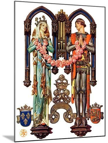 """Henry V and His French Bride,""July 26, 1930-Joseph Christian Leyendecker-Mounted Giclee Print"