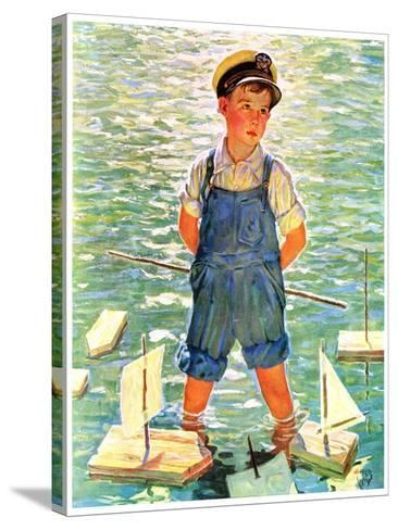 """""""Toy Sailboats,""""June 24, 1933-Eugene Iverd-Stretched Canvas Print"""