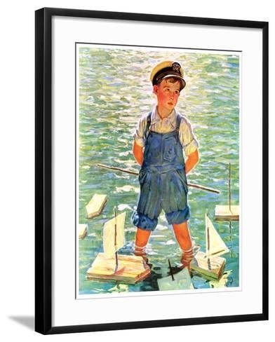 """""""Toy Sailboats,""""June 24, 1933-Eugene Iverd-Framed Art Print"""