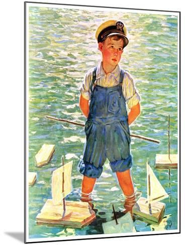 """""""Toy Sailboats,""""June 24, 1933-Eugene Iverd-Mounted Giclee Print"""
