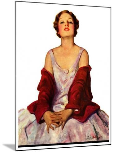 """""""Woman in Red Stole,""""July 22, 1933-Penrhyn Stanlaws-Mounted Giclee Print"""