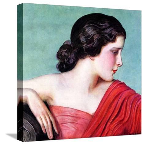 """Exotic Woman,""November 18, 1933-Wladyslaw Benda-Stretched Canvas Print"