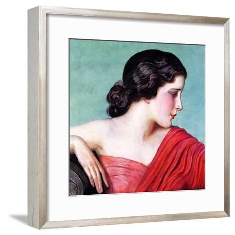 """Exotic Woman,""November 18, 1933-Wladyslaw Benda-Framed Art Print"