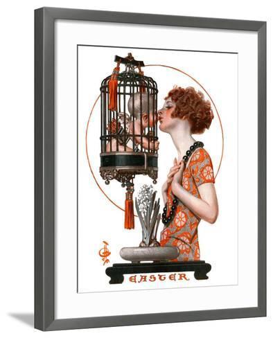 """""""Easter, 1923,""""March 31, 1923-Joseph Christian Leyendecker-Framed Art Print"""