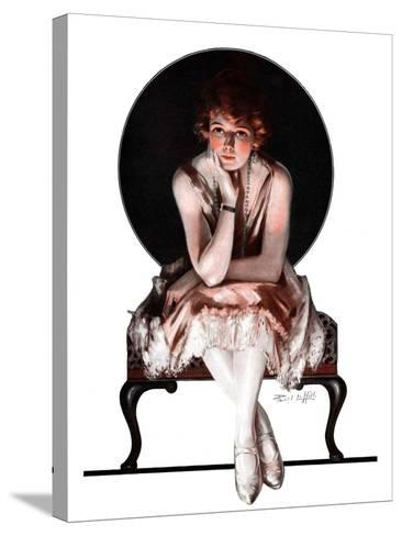 """Waiting,""April 14, 1923-Pearl L^ Hill-Stretched Canvas Print"