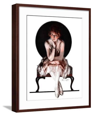 """""""Waiting,""""April 14, 1923-Pearl L^ Hill-Framed Art Print"""