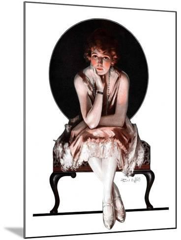 """""""Waiting,""""April 14, 1923-Pearl L^ Hill-Mounted Giclee Print"""
