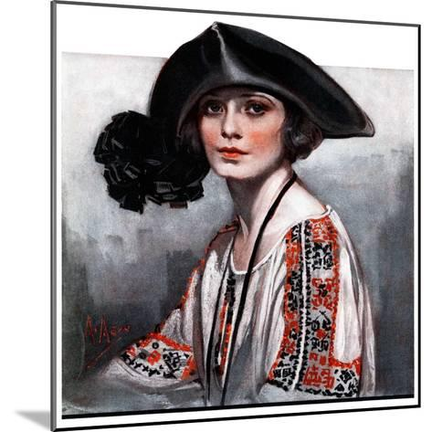 """""""Woman in Embroidered Blouse,""""May 5, 1923-Neysa Mcmein-Mounted Giclee Print"""