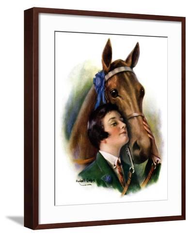 """Blue Ribbon Winner,""March 19, 1927-William Haskell Coffin-Framed Art Print"