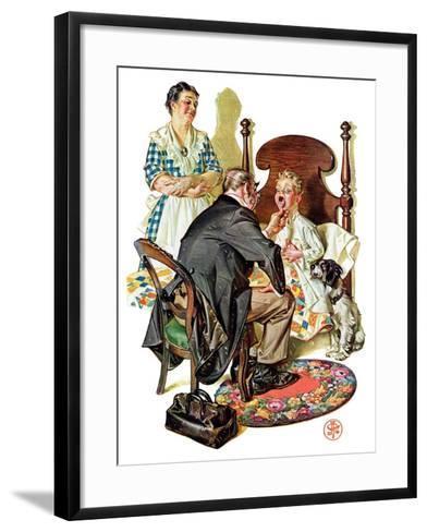 """""""Sore Throat,""""November 22, 1930-Joseph Christian Leyendecker-Framed Art Print"""