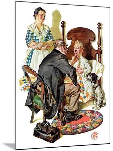 """Sore Throat,""November 22, 1930-Joseph Christian Leyendecker-Mounted Giclee Print"
