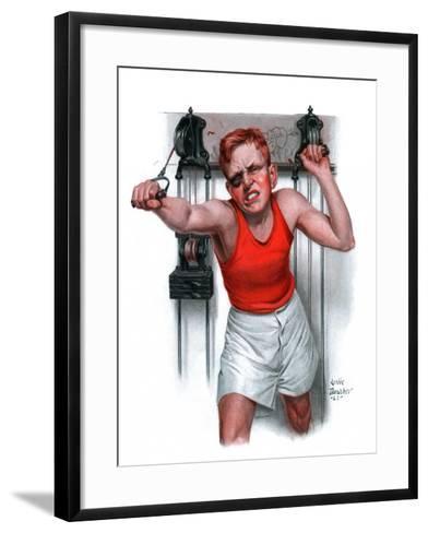 """""""Readying for Rematch,""""June 9, 1923-Leslie Thrasher-Framed Art Print"""