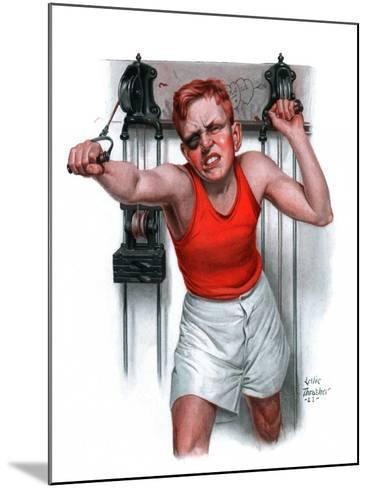 """""""Readying for Rematch,""""June 9, 1923-Leslie Thrasher-Mounted Giclee Print"""