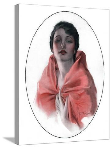 """Woman in Shawl,""June 16, 1923-Rolf Armstrong-Stretched Canvas Print"