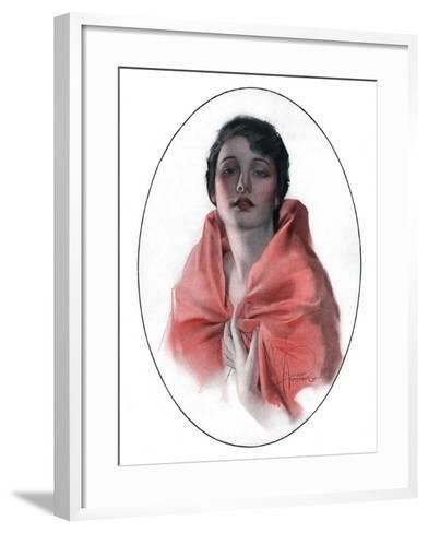 """Woman in Shawl,""June 16, 1923-Rolf Armstrong-Framed Art Print"